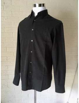 Zegna Charcoal Grey Twill Sport Shirt, Worn Gently & Cleaned, W/ Orig Tag, 85 Cotton, 15% Cashmere, Beautiful! by Etsy