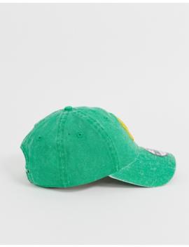 New Era 9 Twenty Washed Ny Adjustable Cap In Green by New Era