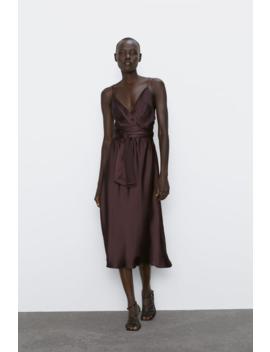 Vestido Midi Estilo Lingerie Última Semanamulher by Zara