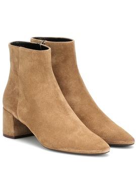 Ankle Boots Lou 50 Aus Veloursleder by Saint Laurent