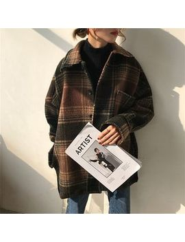 Moon City   Jacke Mit Plaidmuster by Moon City