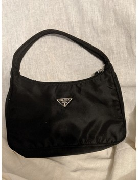 Handbag Black Nylon Clutch by Prada