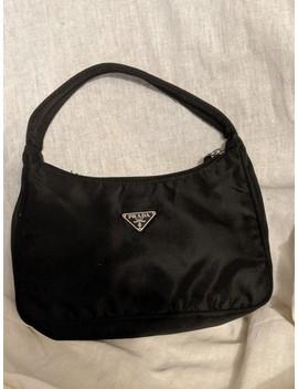 Handbag Black Nylon Clutch by Prada
