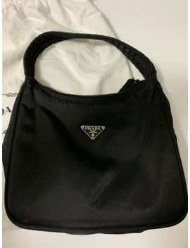 Black Vintage Prada Nylon Tessuto Mini Sport Hobo Bag Purse Shoulder Handbag by Prada