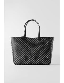 Metal Eyelet Shopper View All Bags Woman by Zara