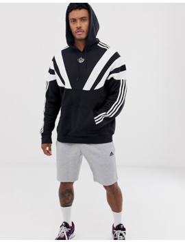 Adidas Originals Hoodie With 3 Stripes And Central Logo In Black by Adidas Originals