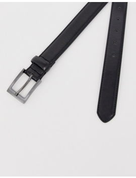 New Look Faux Leather Formal Belt In Black by New Look