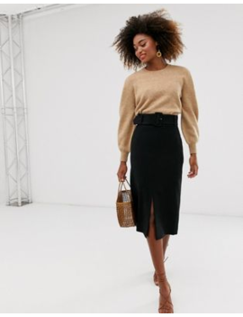 &Amp; Other Stories Midi Pencil Skirt In Black by & Other Stories