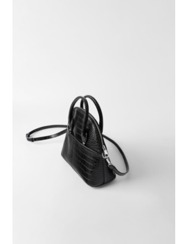 Bowlingtasche Mit Animalprint Alles Anzeigen Taschen Damen by Zara