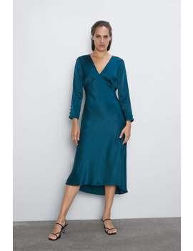 Vestido Acetinado Ver Tudo Vestidos Mulher by Zara