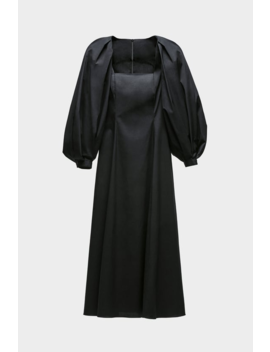 Vestido Midi Com Volume Ver Tudo Vestidos Mulher by Zara