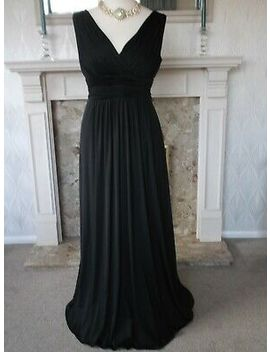 Elegant John Lewis Jet Black Grecian Style Evening Dress Size 16 by Ebay Seller