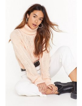 Can't Believe Knit Cable Knit Sweater by Nasty Gal