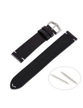 Men Business Calf Leather Quick Release Wrist Watch Girdle Strap Buckle Belt Us by Unbranded