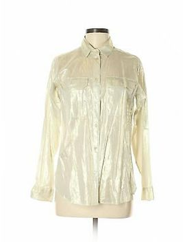 Nwt J. Crew Women Ivory Long Sleeve Button Down Shirt 6 by J. Crew
