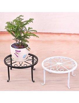 Ze Aofa Plant Stand Floor Flower Pot Rack Round Iron Home Garden Indoor Balcony Decor by Ze Aofa