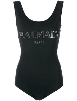 Logo Printed Bodysuit by Balmain