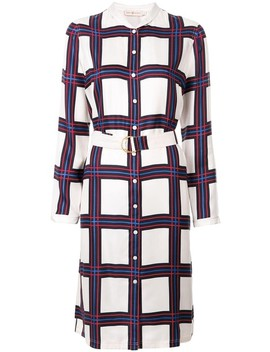 Valley Plaid Harper 40625 Shirtdress Short Casual Dress by Tory Burch