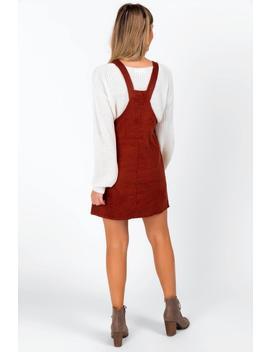 Karla Corduroy Overall Dress by Francesca's