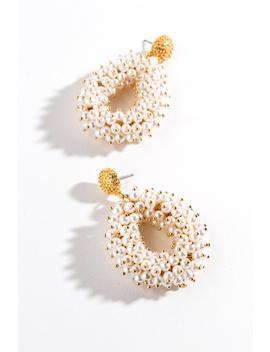 Ayla Chunky Pearl Teardrop Earrings by Francesca's