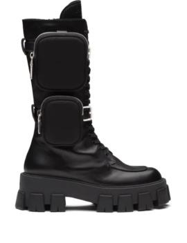 Monolith Chunky Boots by Prada