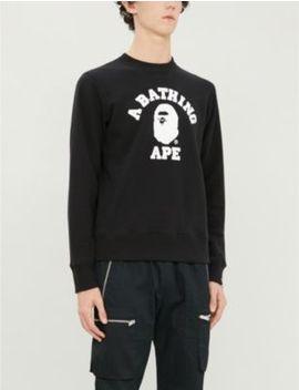 College Logo Print Cotton Jersey Sweatshirt by A Bathing Ape