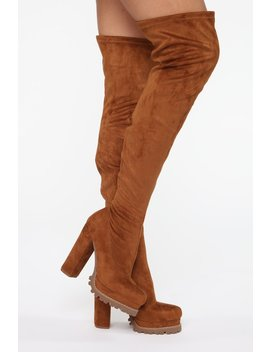 Can't You See Heeled Boots   Tan by Fashion Nova