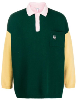 Poloshirt In Colour Block Optik by Loewe