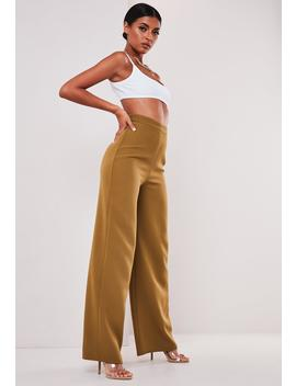Sofia Richie X Missguided Taupe Tailored Wide Leg Trousers by Missguided