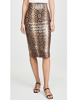 Faux Leather Animal Midi Skirt by Commando
