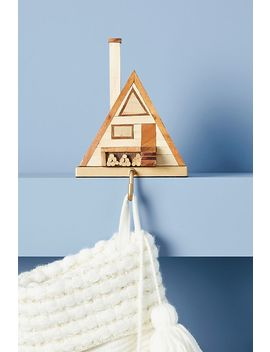 Wooden Cabin Stocking Holder by Anthropologie