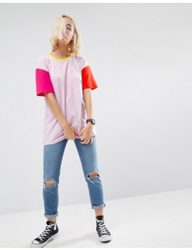 Asos T Shirt In Oversized Cutabout Color Block by Asos Collection