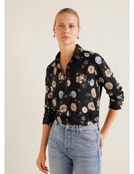 Camisa Com Estampado às Flores by Mango