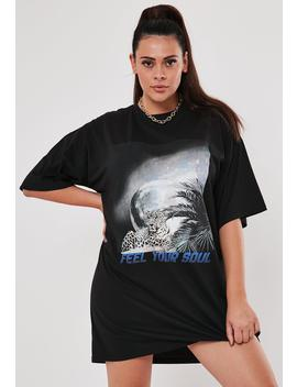 Plus Size Feel Your Soul T Shirt Dress by Missguided