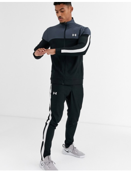 Under Armour Tricot Joggers In Black by Under Armour