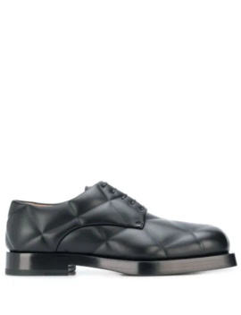 Quilted Derby Shoes by Bottega Veneta