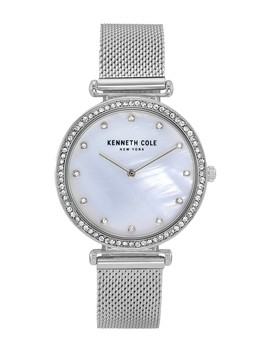Women's Mother Of Pearl Dial Mesh Strap Watch, 36mm by Kenneth Cole New York