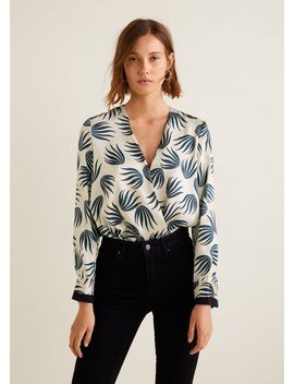 Blusa Estampada Cruzada by Mango
