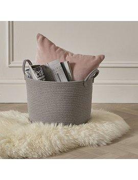 Cotton Rope Grey Storage Basket by Dunelm