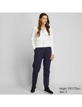 Women Fleece Lined Stretch Trousers by Uniqlo