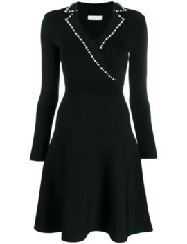 Faux Pearl Trim Dress by Sandro Paris