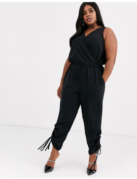 Simply Be Utility Jumpsuit In Black by Simply Be