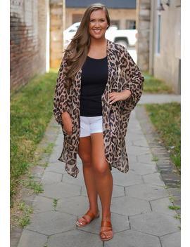 Leopard Kimono   Curvy by Rosie Daze