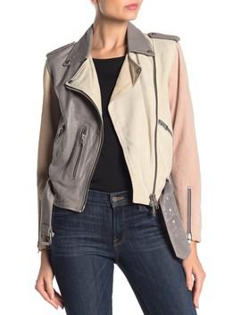 Murray Colorblock Leather & Suede Biker Jacket by Allsaints