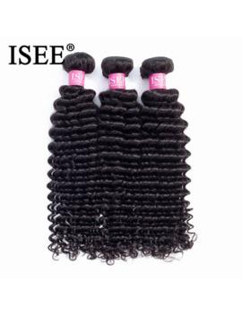 Brazilian Deep Wave Human Hair Bundles Natural Color Free Shipping 3/4 Bundles Hair Extension Isee Brazilian Hair Weave Bundles by Ali Express