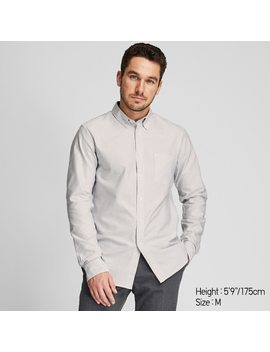Camisa Oxford Slim Fit Rayas Hombre by Uniqlo