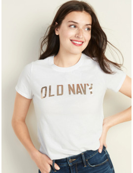 Every Wear Logo Graphic Curved Hem Tee For Women by Old Navy