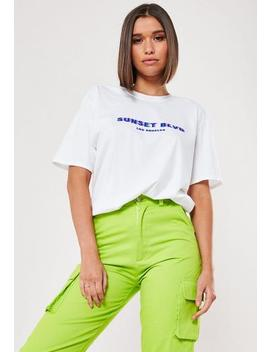 White Sunset Boulevard Graphic T Shirt by Missguided
