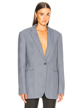Plaid Single Button Blazer by Calvin Klein 205 W39 Nyc
