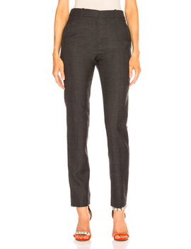 Blurred Check Wool Trousers by Calvin Klein 205 W39 Nyc